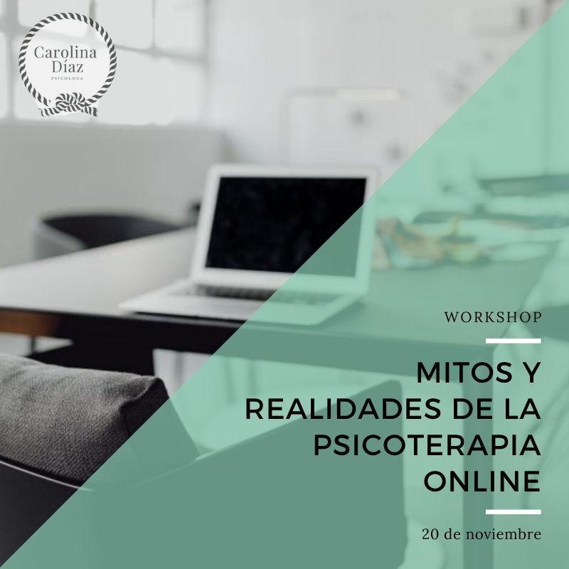 Taller Mitos y realidades de la psicoterapia online