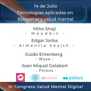 Tecnologías aplicadas en Bienestar y salud mental - 14 de Julio